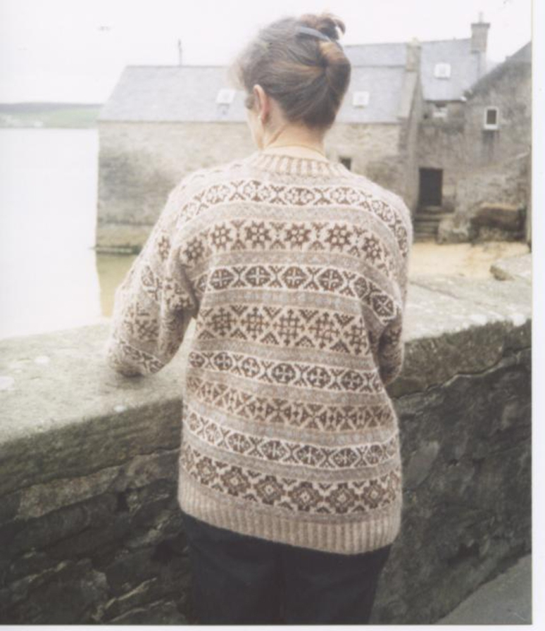 E.Johnston handspun handknit Selkie sweater