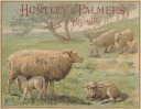 Huntley & Palmers biscuits image, featuring sheep!