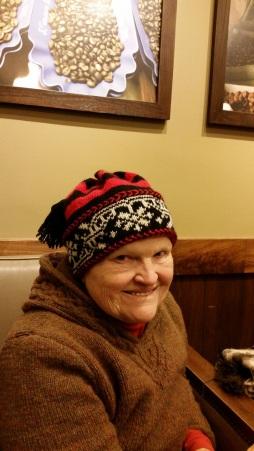 hat worked in 100% wool vintage yarns