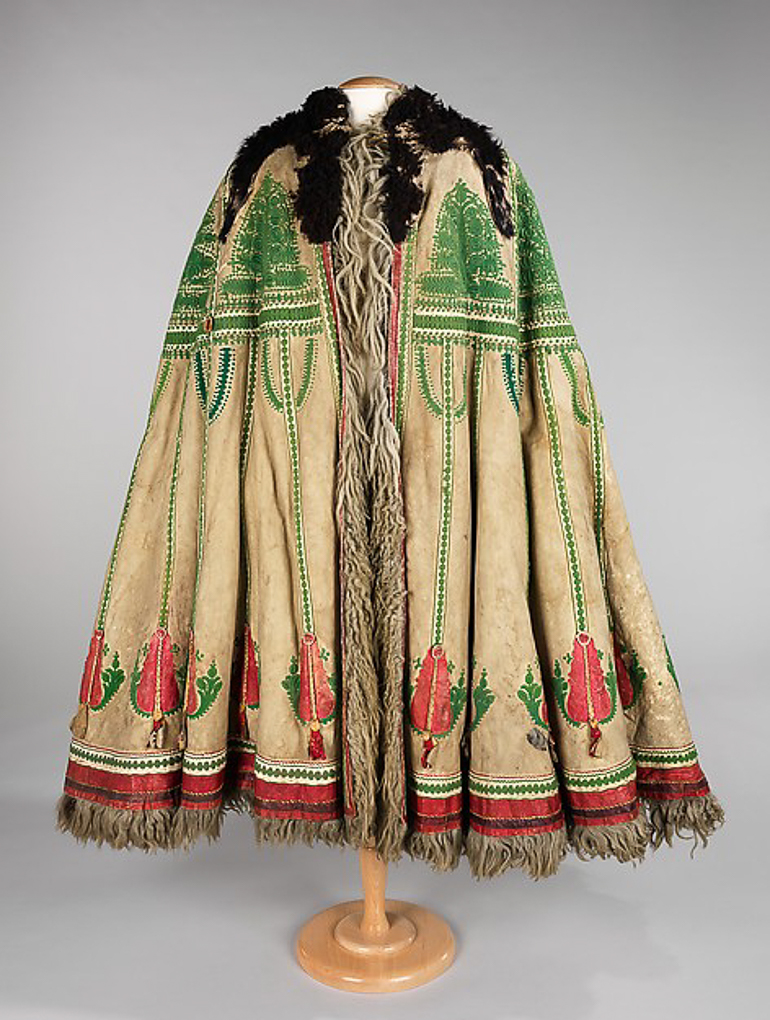 Cape, or suba, a traditional garment of Hungarian shepherds; image found here Credit: Brooklyn Museum Costume Collection at The Metropolitan Museum of Art, Gift of the Brooklyn Museum, 2009; Museum Expedition 1920 & 1921, Robert B. Woodward Memorial Fund, 1921
