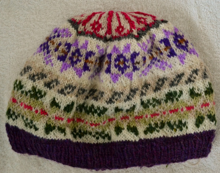 2. Image of hat I knitted first