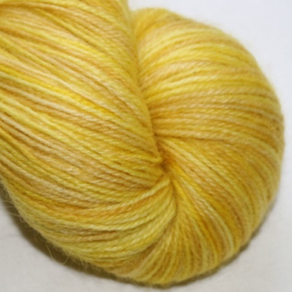 50% Polwarth and 50% Wensleydale wool from The Knitting Goddess.