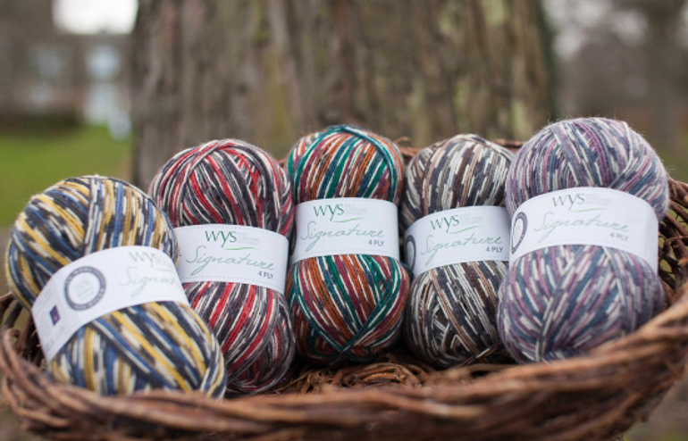 Country Birds yarn - spun and printed by West Yorkshire Spinners