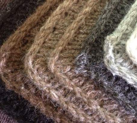 piled swatches in Shetland wool
