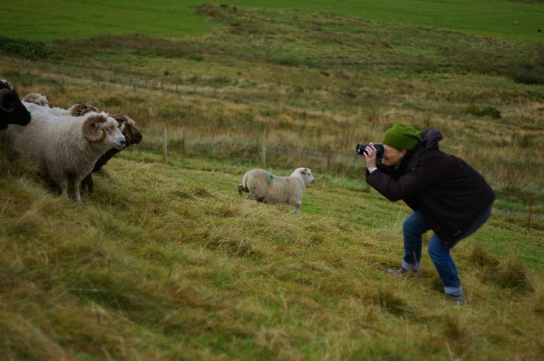 Jeni Reid photographing WOOL in Shetland, 2014