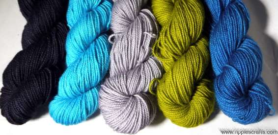Sea on a Stormy Day BFL Gradient pack. Copyright: Ripples Crafts