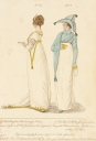 """A New Spencer Walking Dress with the Incognita Hat"" from the January 1807 La Belle Assemblée - a spenser is one of the garments to which Dorothy Wordsworth refers in her diary entries"