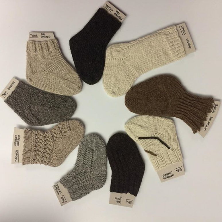 @handmadebysigi - 'This is my entry to #wovember2015 ...still can't believe that I actually knitted nine different socks'